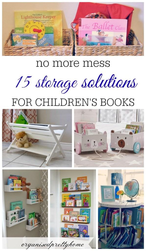 ideas to store children's books