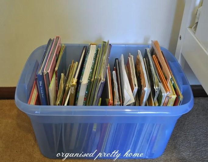 children's book storage ideas in a box