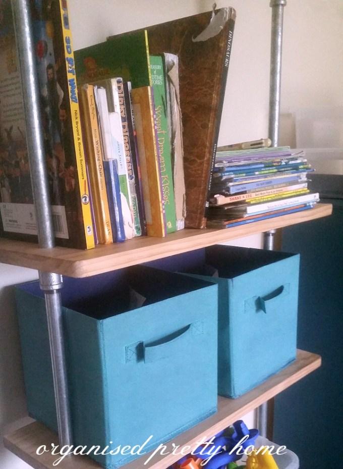 store children's books on a shelf