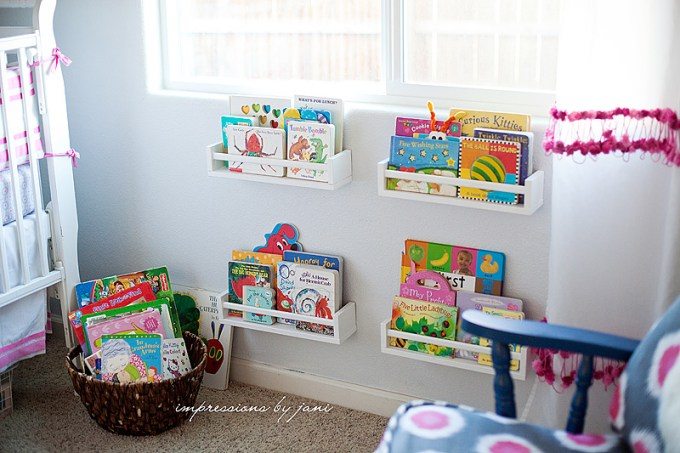children's book storage ideas in a Ikea spice rack hack