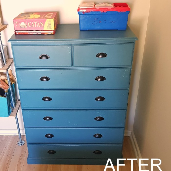 Shared Bedroom Makeover: Painted Boys Drawers Before And After