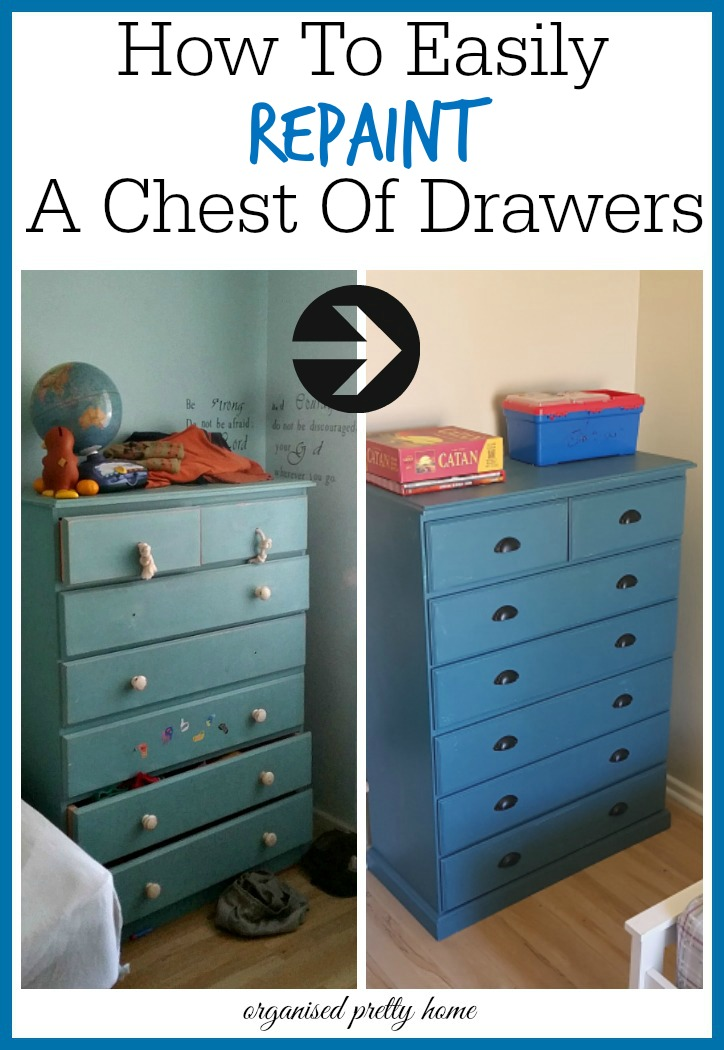 how to easily repaint a chest of drawers