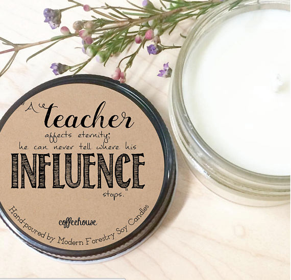 teacher gift idea soy candle