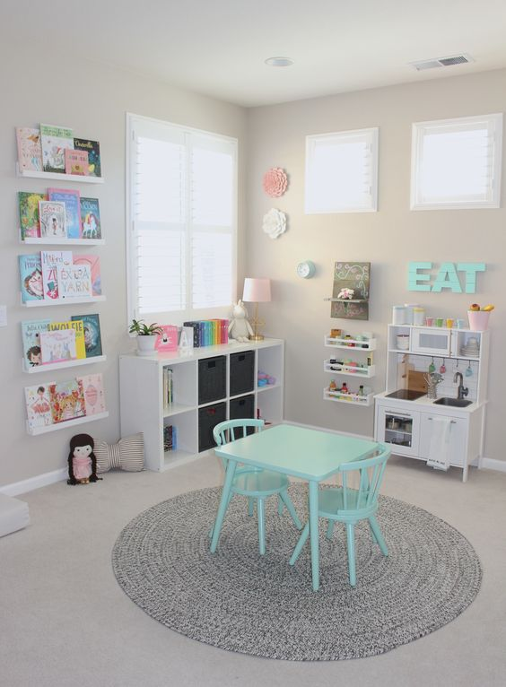 How to organize toys in the playroom