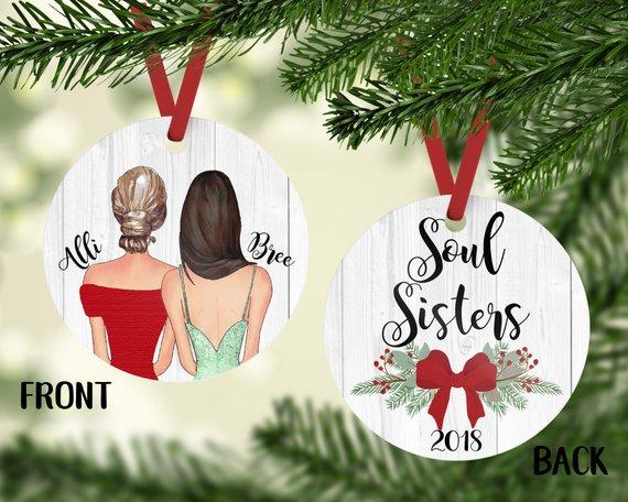 soul sisters gift - Christmas ornament