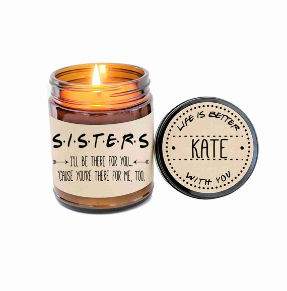 sister gift - soy candle