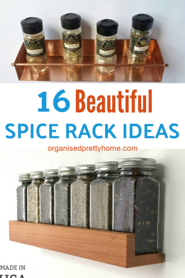 Crazy Gorgeous Handmade Spice Rack Ideas Organised Pretty Home