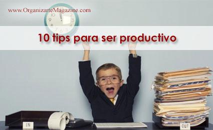 10 tips para ser productivo