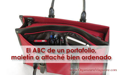 El ABC de un portafolio, maletín o attaché bien ordenado