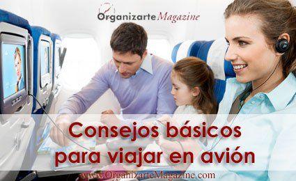 Viajar en avión consejos