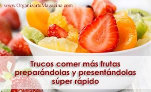 cómo pelar frutas rápido