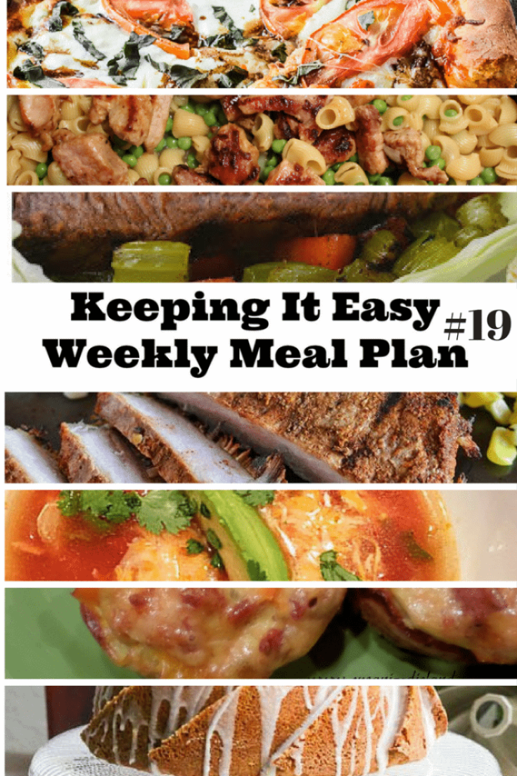 Weekly Meal Plan 19