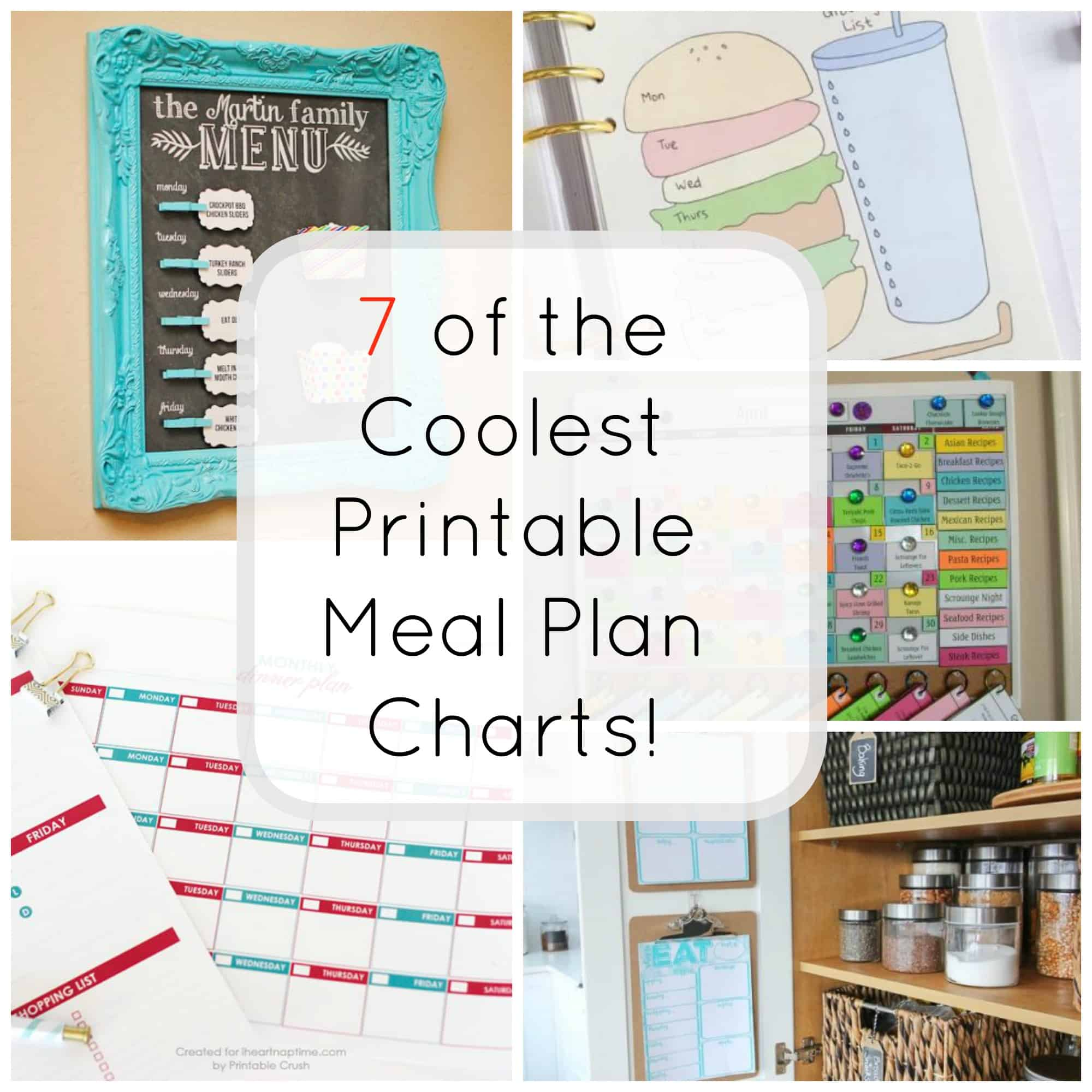 7 Printable Meal Plan Charts For Easy Dinner Ideas