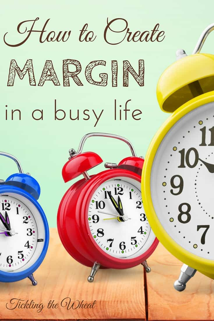 Margin is the one thing that's made my schedule manageable. These simple tips helped me create breathing room in my crammed schedule.