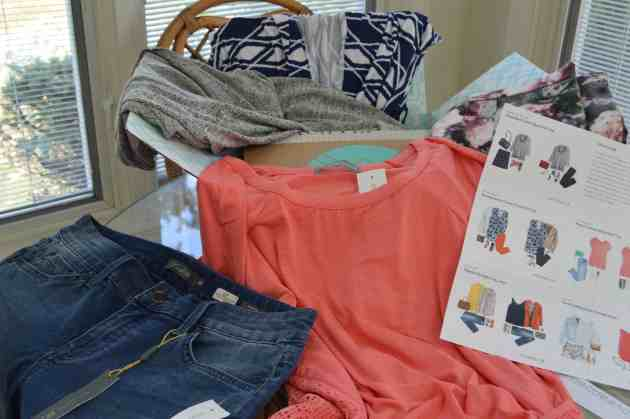 Each Stitch Fix delivery comes with five pieces chosen specifically for you by a Stitch Fix stylist.