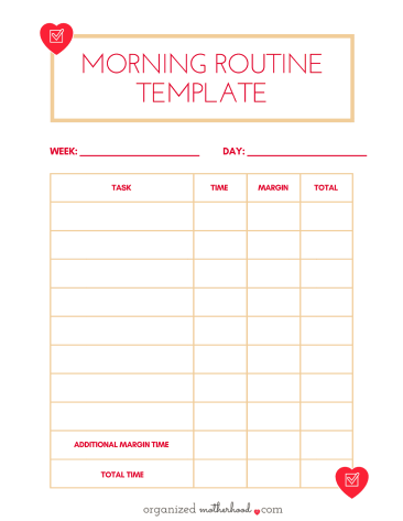 Struggling to figure out what time to start your morning routine? This printable helped me create a realistic start time so my mornings weren't rushed!