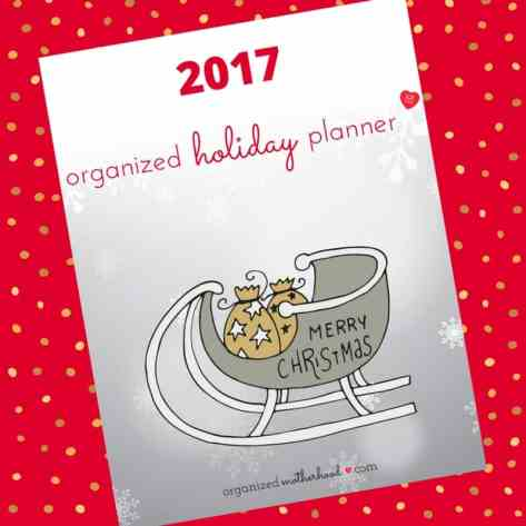 Sign up to get the free Organized Holiday Planner. It's 19 pages of gift trackers, Christmas card checklists, meal plans, more to make your holiday simple.