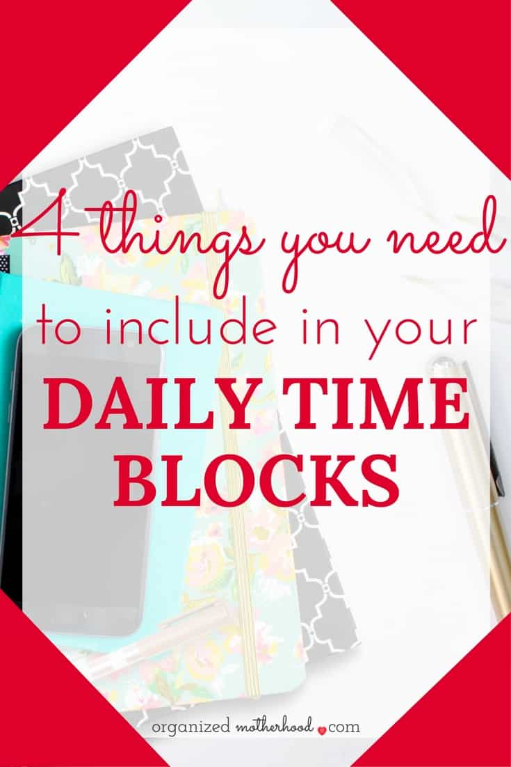 Love these ideas to use time blocks to be more productive as a stay-at-home mom.