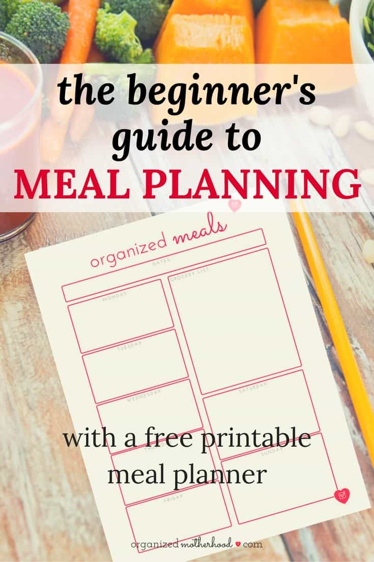 Struggling to get dinner on the table every night? Here's everything you need to know about meal planning (including a free meal planning workbook).