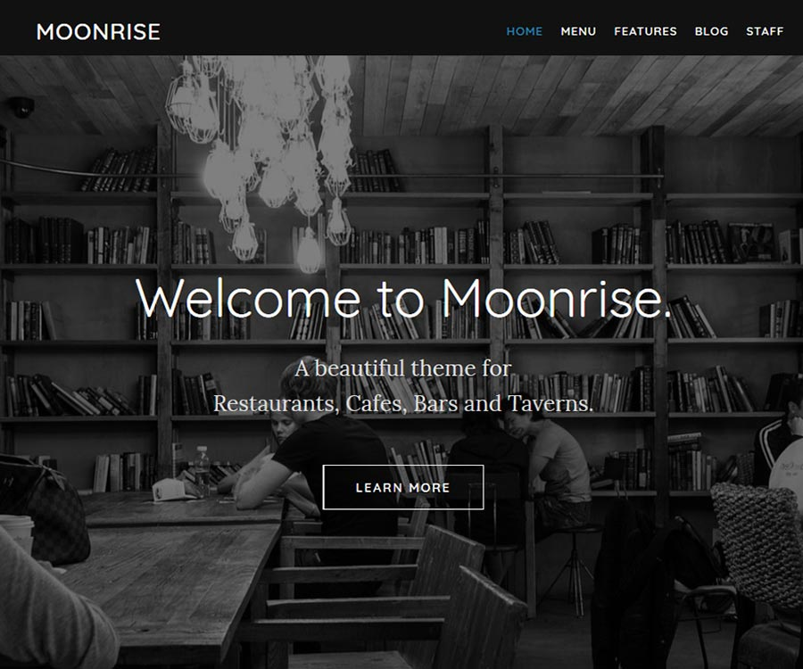 Moonrise - Restaurant WordPress Theme
