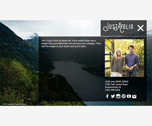 Justafolio - Portfolio WordPress Theme