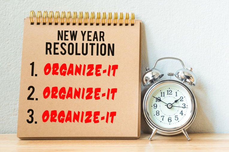 new years resolution get organized