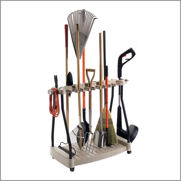 yard tool organizer rack