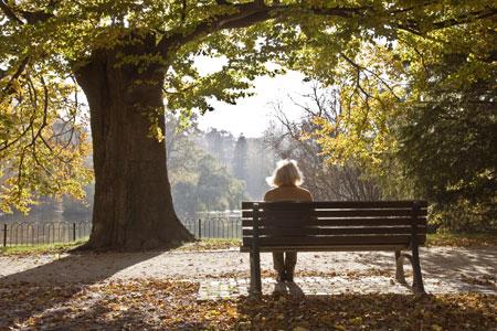woman-bench