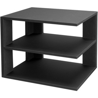 3 Tier Desktop Corner Shelf   Black in Home Decor 3 Tier Desktop Corner Shelf   Black Image