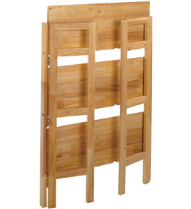 Three Tier Folding Book Shelf   Natural in Free Standing Shelves Click any image to view in high resolution