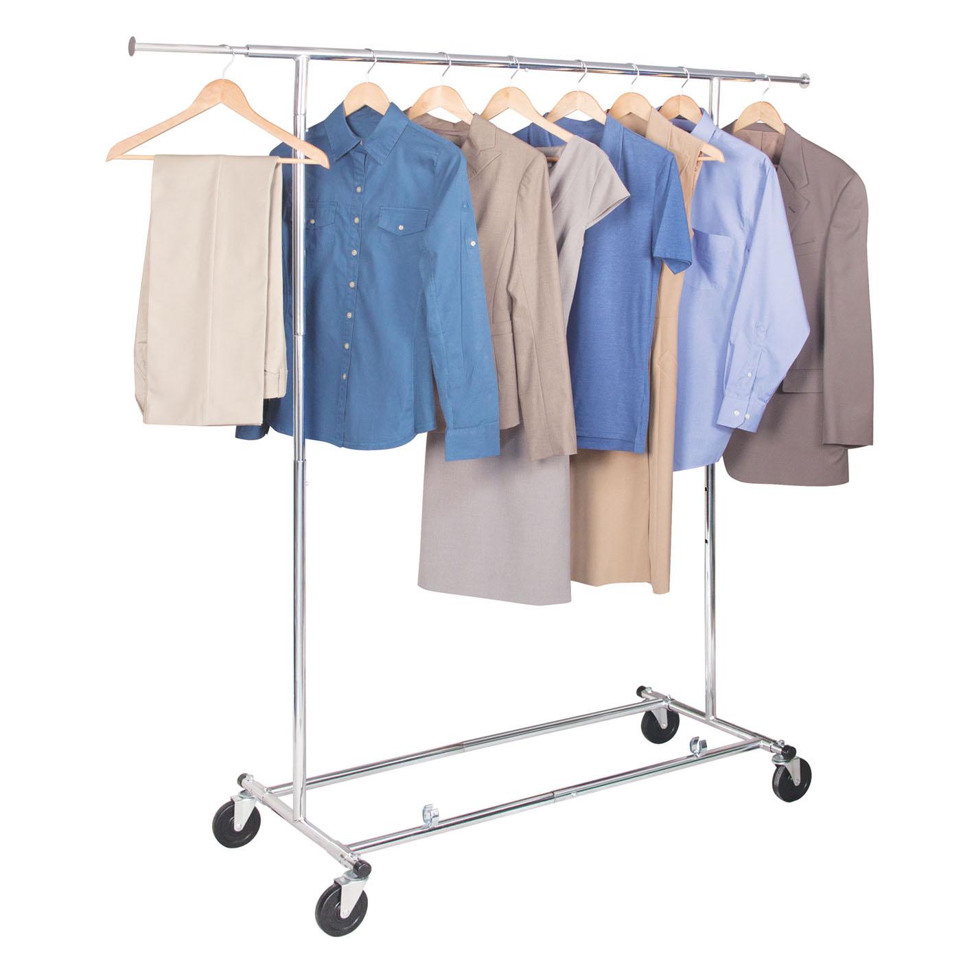 commercial chrome garment rack in