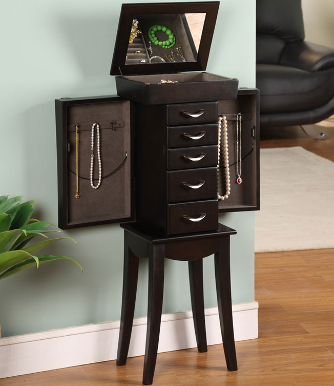 Stand Up Jewelry Box Eiffel Tower In Jewelry Armoires