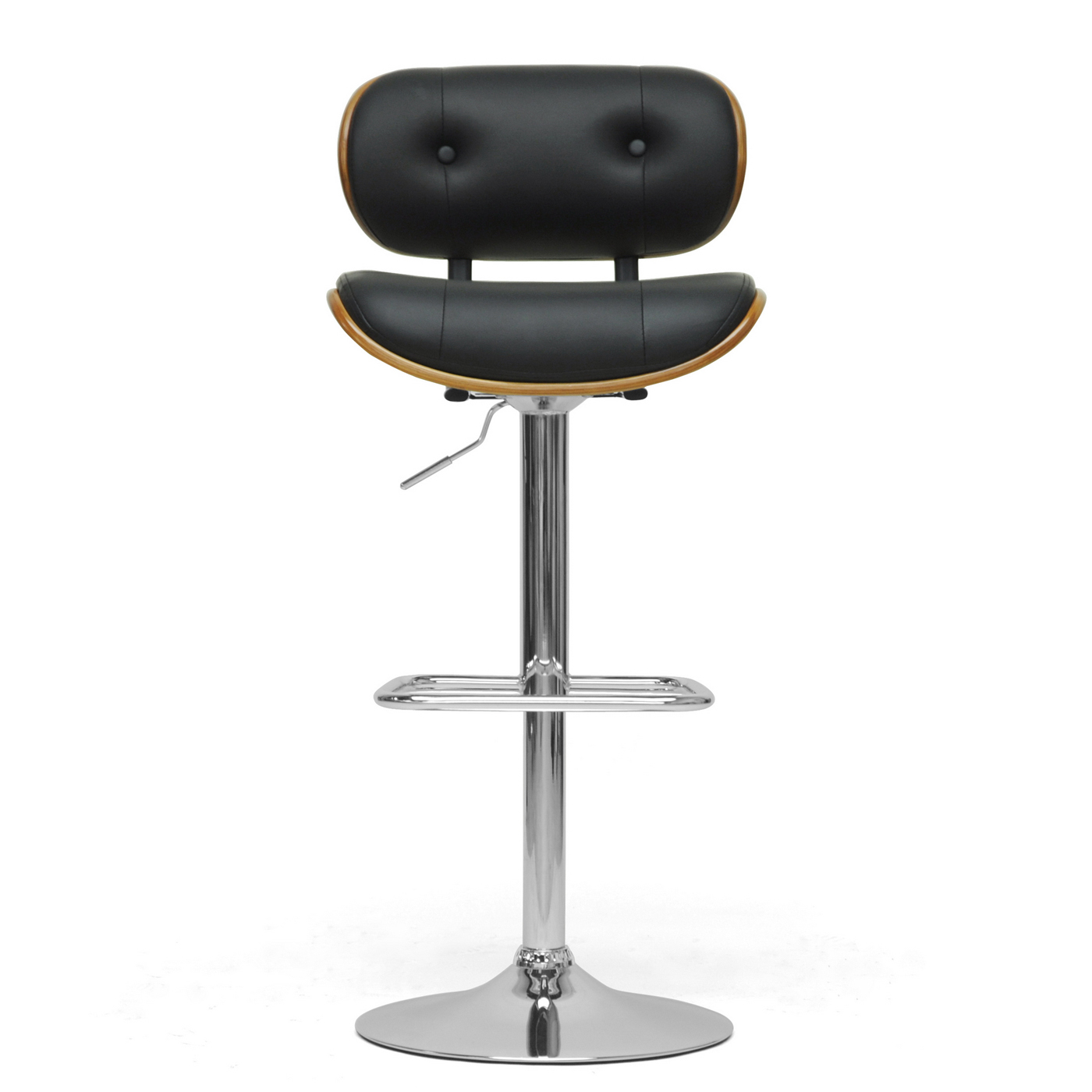 Contemporary Bar Stool Walnut And Black In Modern Bar Stools