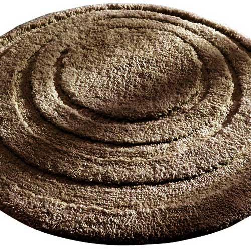 round microfiber spa and bath rug