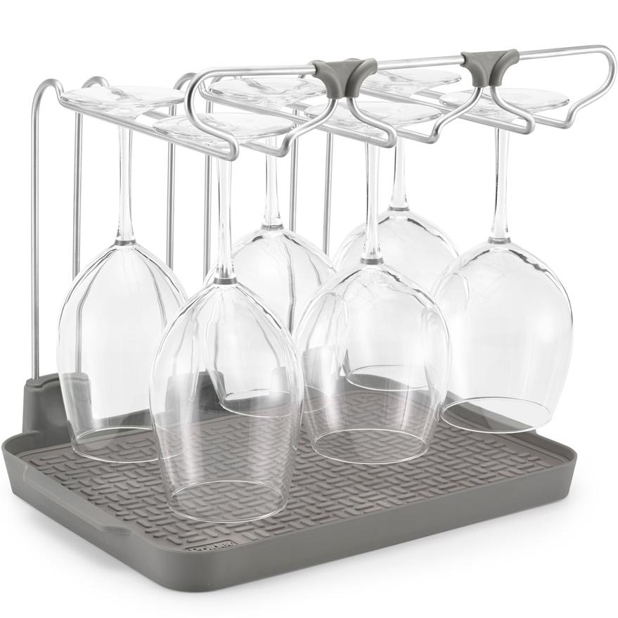 wine glass drying rack in dish racks