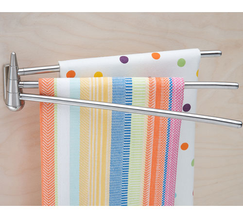Kitchen Towel Holders Stainless Steel Swing Arm Rack