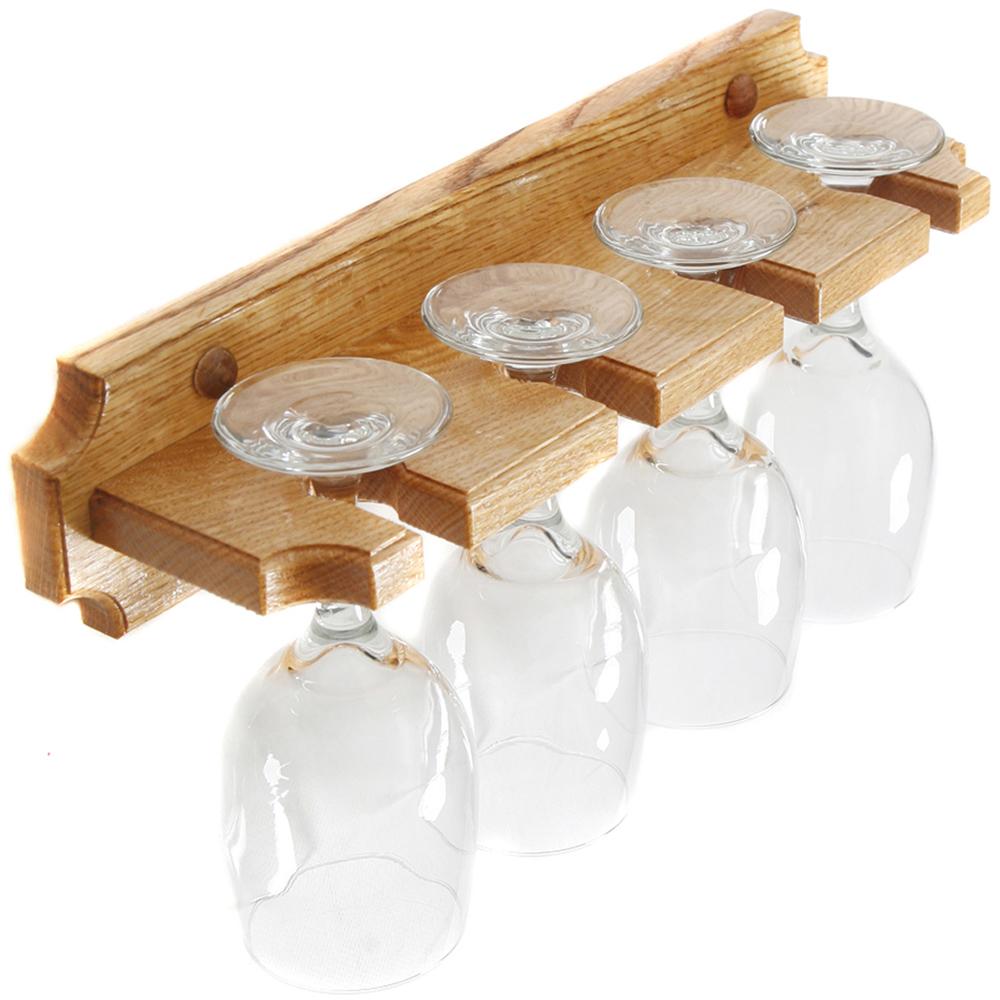wall mounted wine glass rack in wine