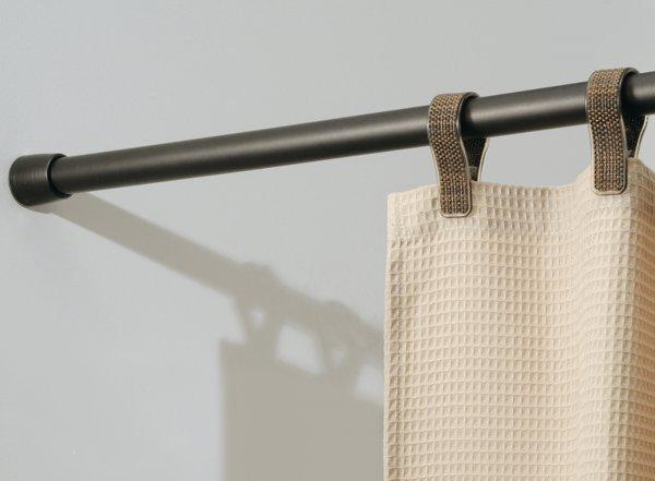 Bronze Adjustable Closet Rod In Shower Rods