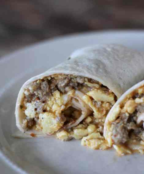 freezer meal  sausage and egg breakfast burritos