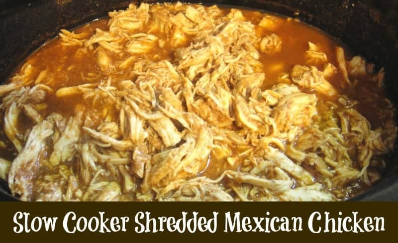 Slow cooker mexican chicken the best slow cooker shredded mexican chicken recipe make a batch and freeze for future forumfinder Image collections