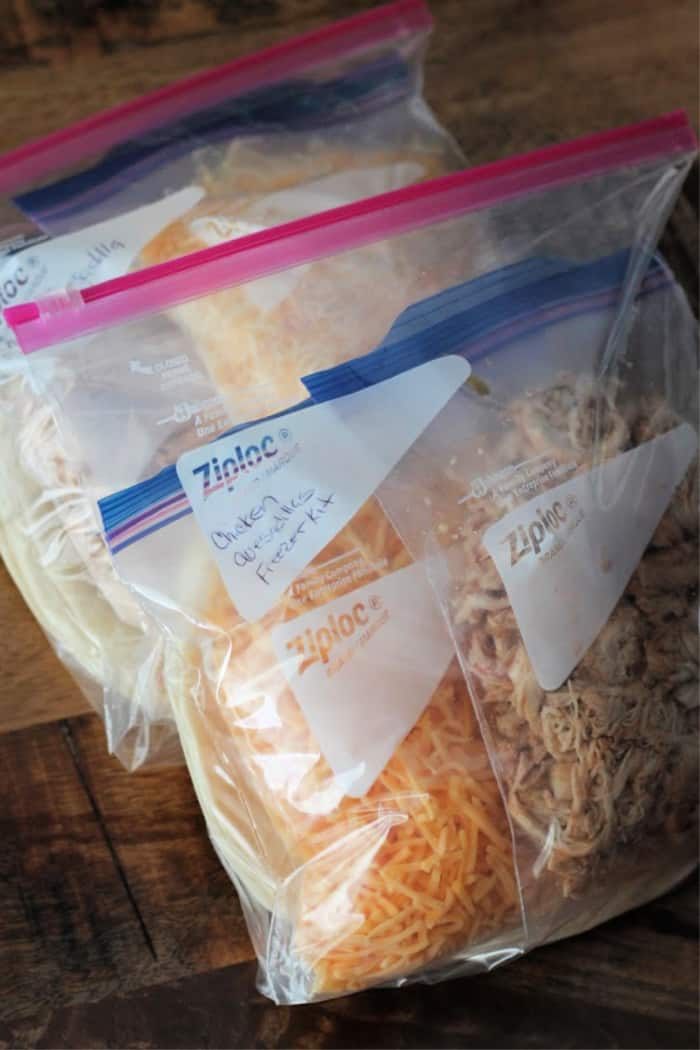 Chicken Quesadillas Meal Prep Freezer Kit Recipe Organize