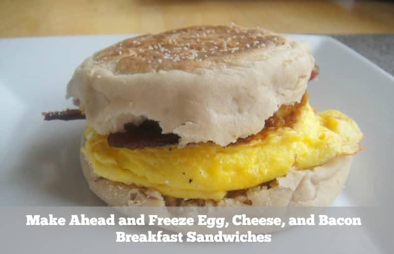 Make Ahead and Freeze Breakfast Sandwich Freezer meal