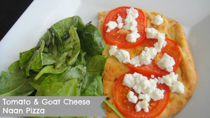 Tomato and Goat Cheese Naan Pizza Recipe