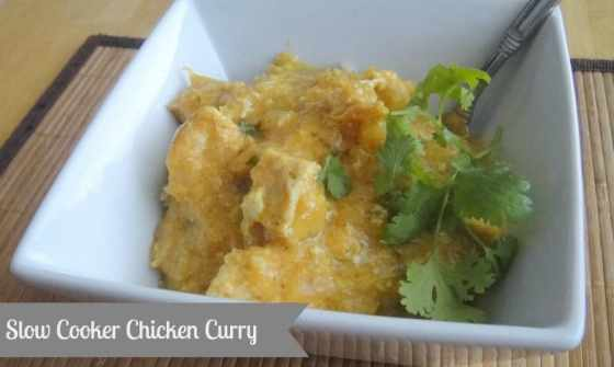 Chicken Curry made in the crockpot. #slowcooker #crockpot #healthycrockpot