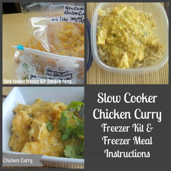 Slow Cooker Chicken Curry Recipe. Freezer Kit and Freezer Meal Instructions Provided