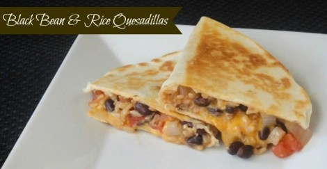Black Bean and Rice Quesadillas
