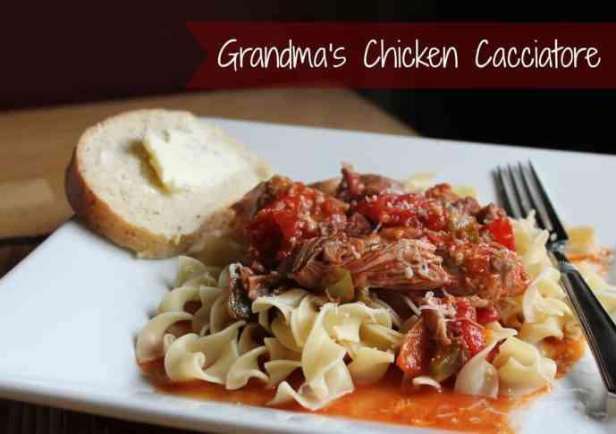 Grandma's Chicken Cacciatore Recipe #freezercooking #healthy