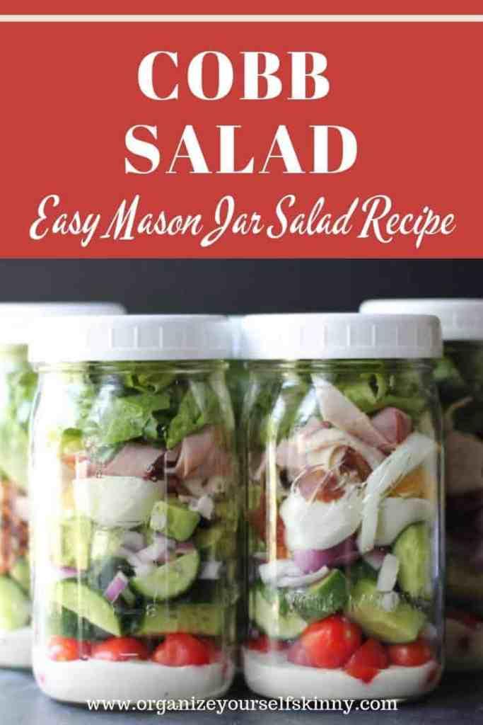 Cobb Salad Mason Jar Salad Recipe