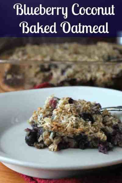 Baked Blueberry Oatmeal Plus Tips on Conserving Water #yaywater #lovemysilk