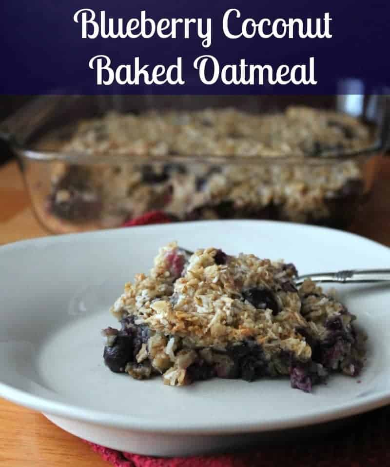 Blueberry Coconut Baked Oatmeal Recipe #Silk #YAYwater